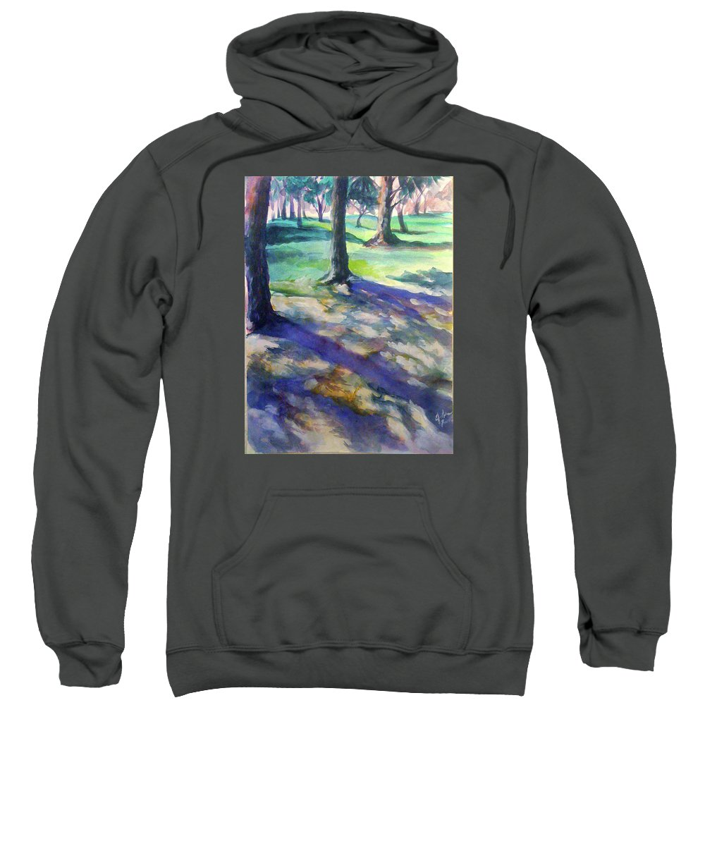 Tree Sweatshirt featuring the painting Tree Line by Julie Morrison