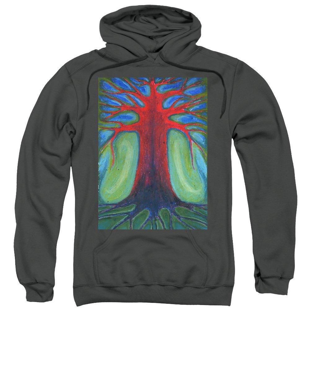 Colour Sweatshirt featuring the pastel Tree Of Quiet by Wojtek Kowalski