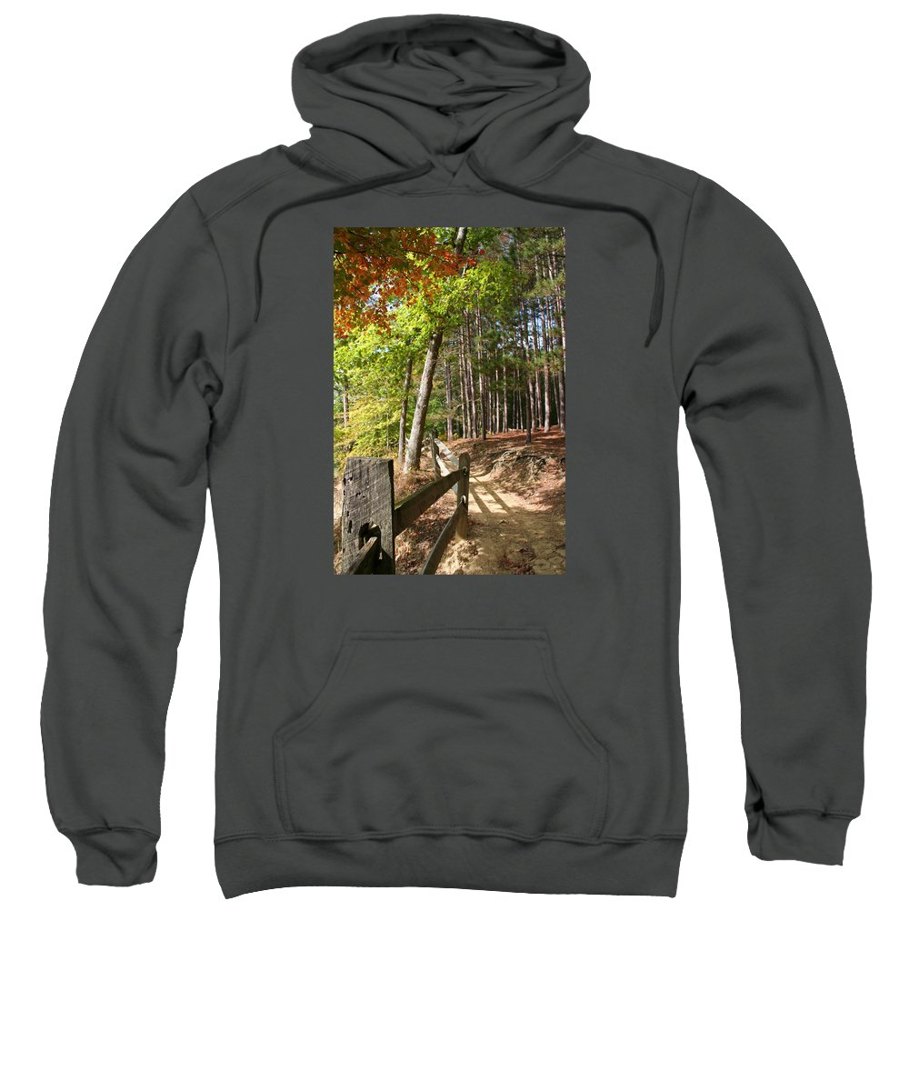 Tree Sweatshirt featuring the photograph Tree Trail by Margie Wildblood