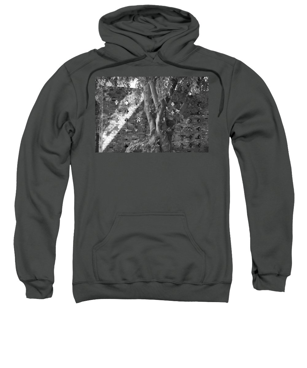 Trees Sweatshirt featuring the photograph Trees And Brick Crosses by Rob Hans