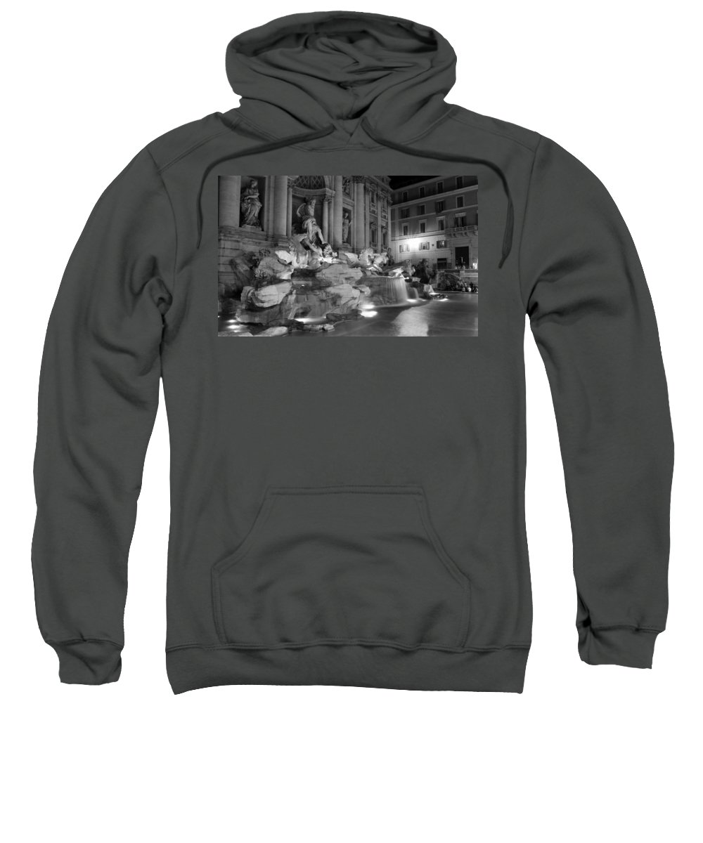 Trevi Fountain Sweatshirt featuring the photograph Trevi Fountain Night 2 by Andrew Fare