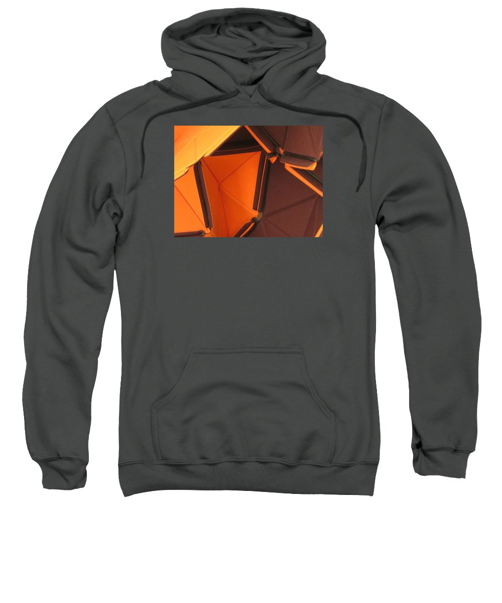 Abstract Sweatshirt featuring the photograph Triangles by Cindy Kellogg
