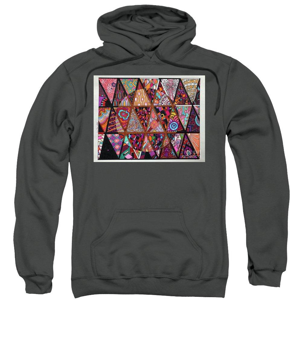 Triangle Sweatshirt featuring the drawing Triangularia by Darrin Pruitt