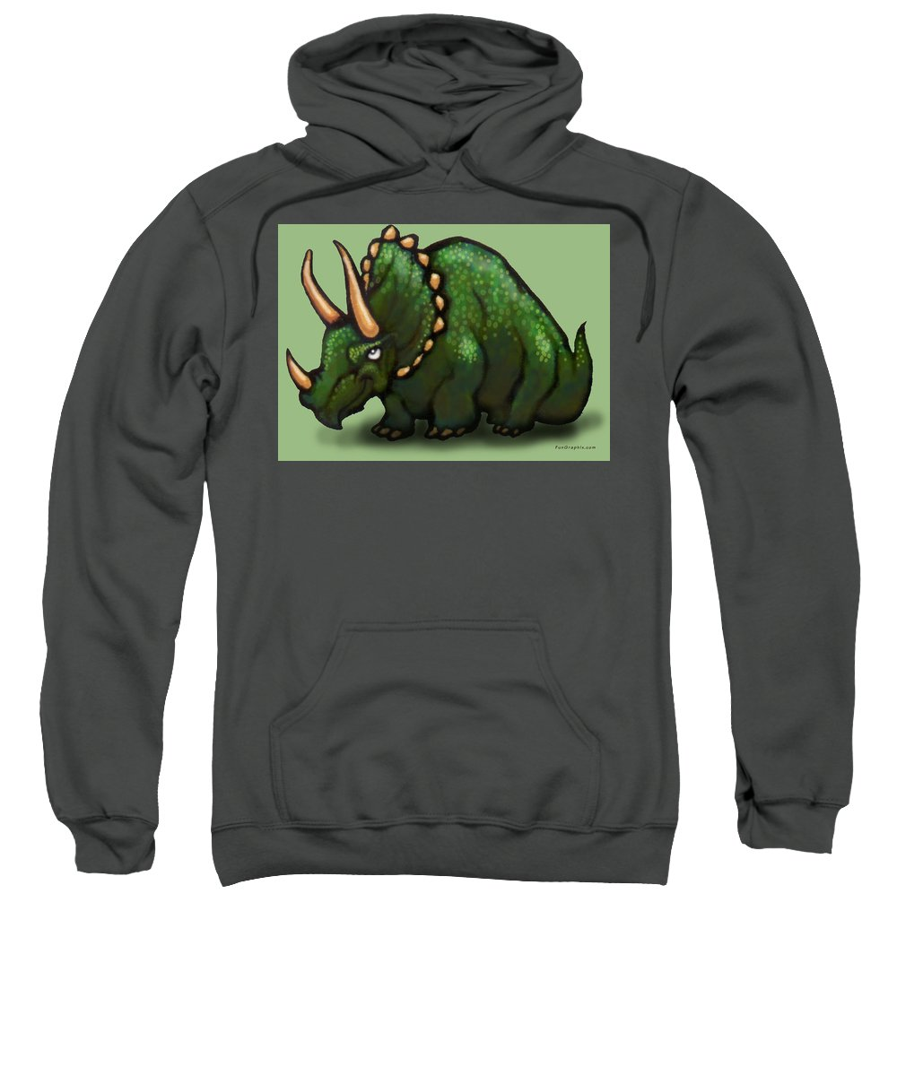 Triceratops Sweatshirt featuring the greeting card Triceratops by Kevin Middleton