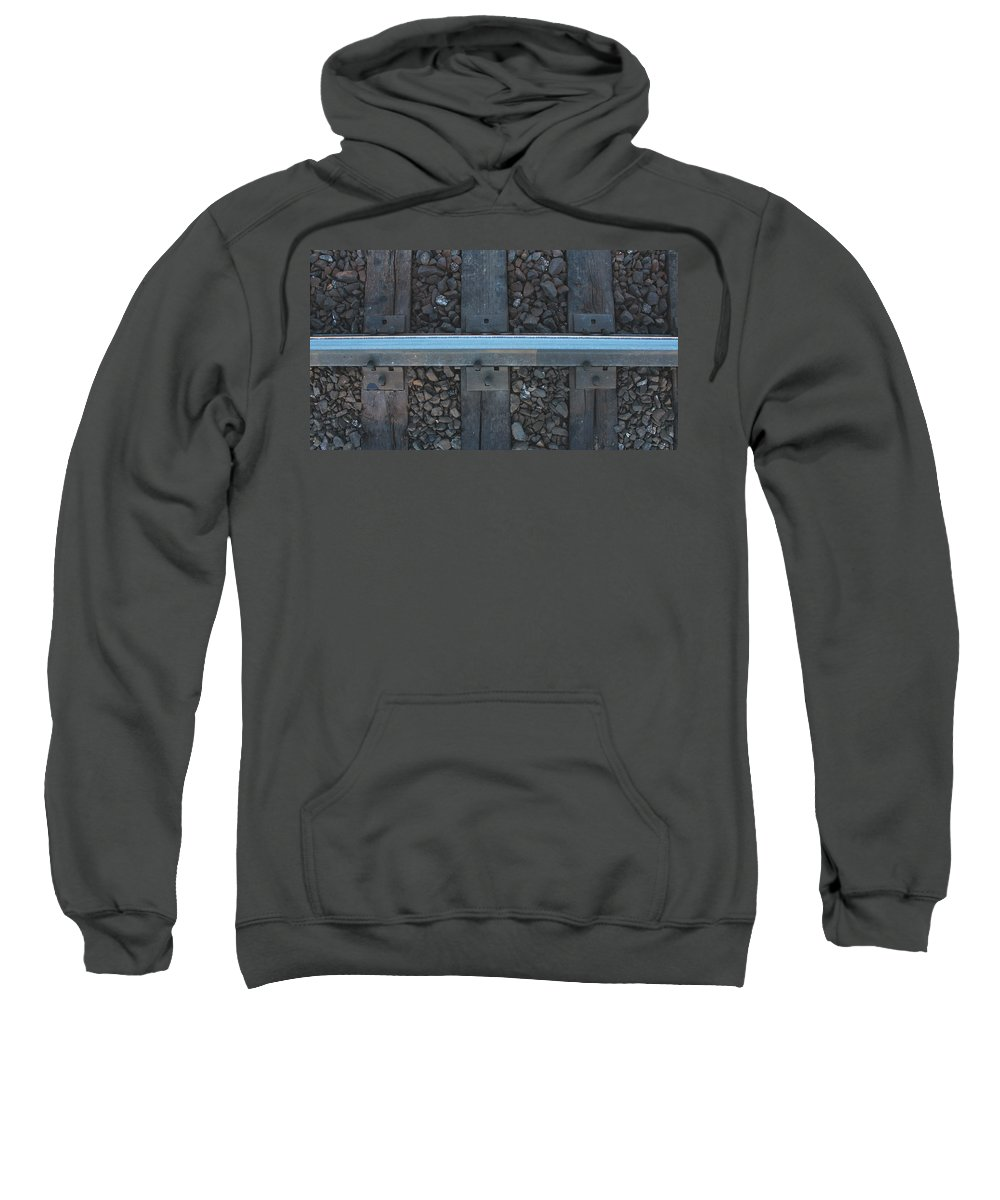 Train Sweatshirt featuring the photograph Trick Track by Cassidy Chatten