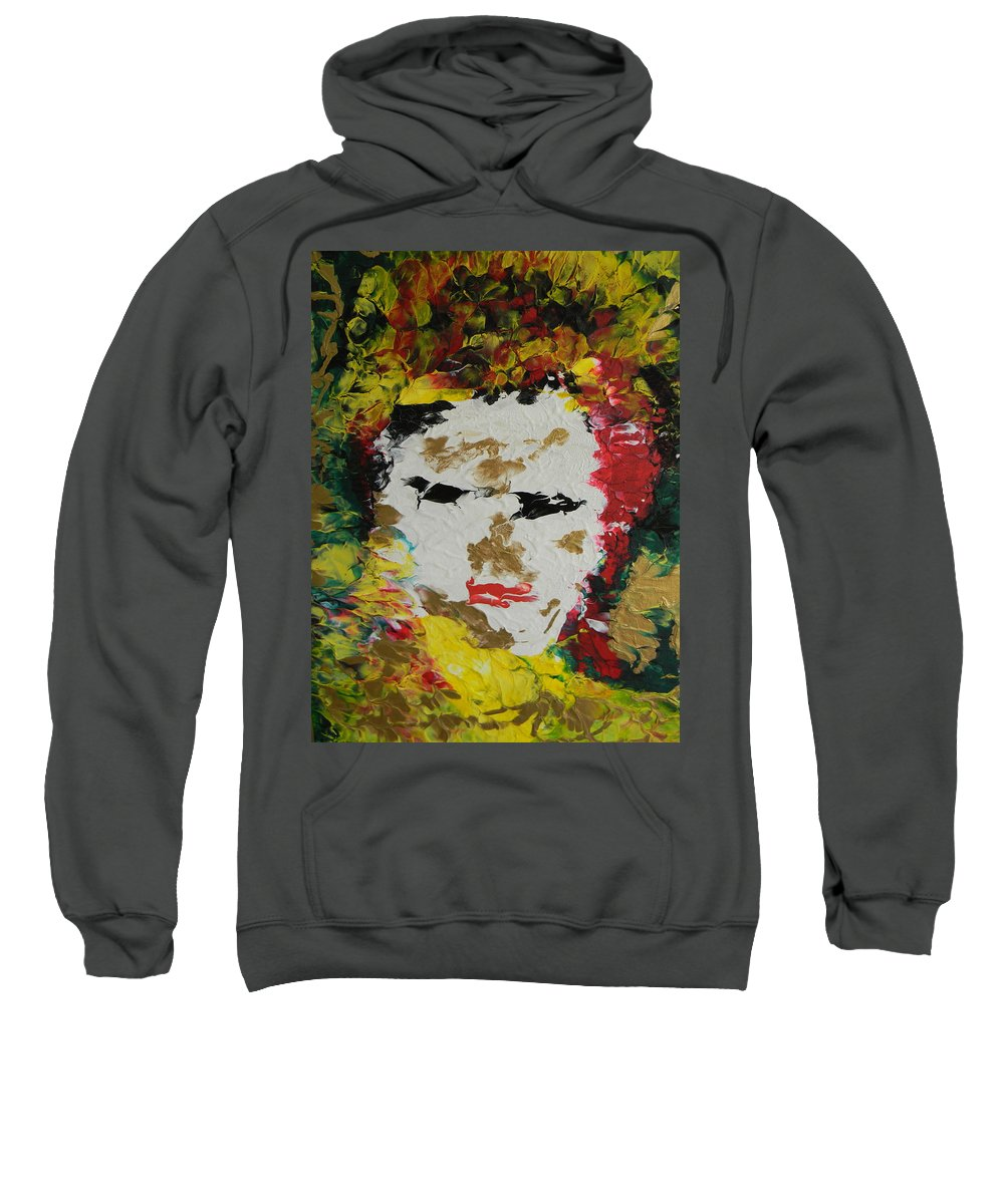 Trinity Sweatshirt featuring the painting Trinity Panel Two by Marwan George Khoury