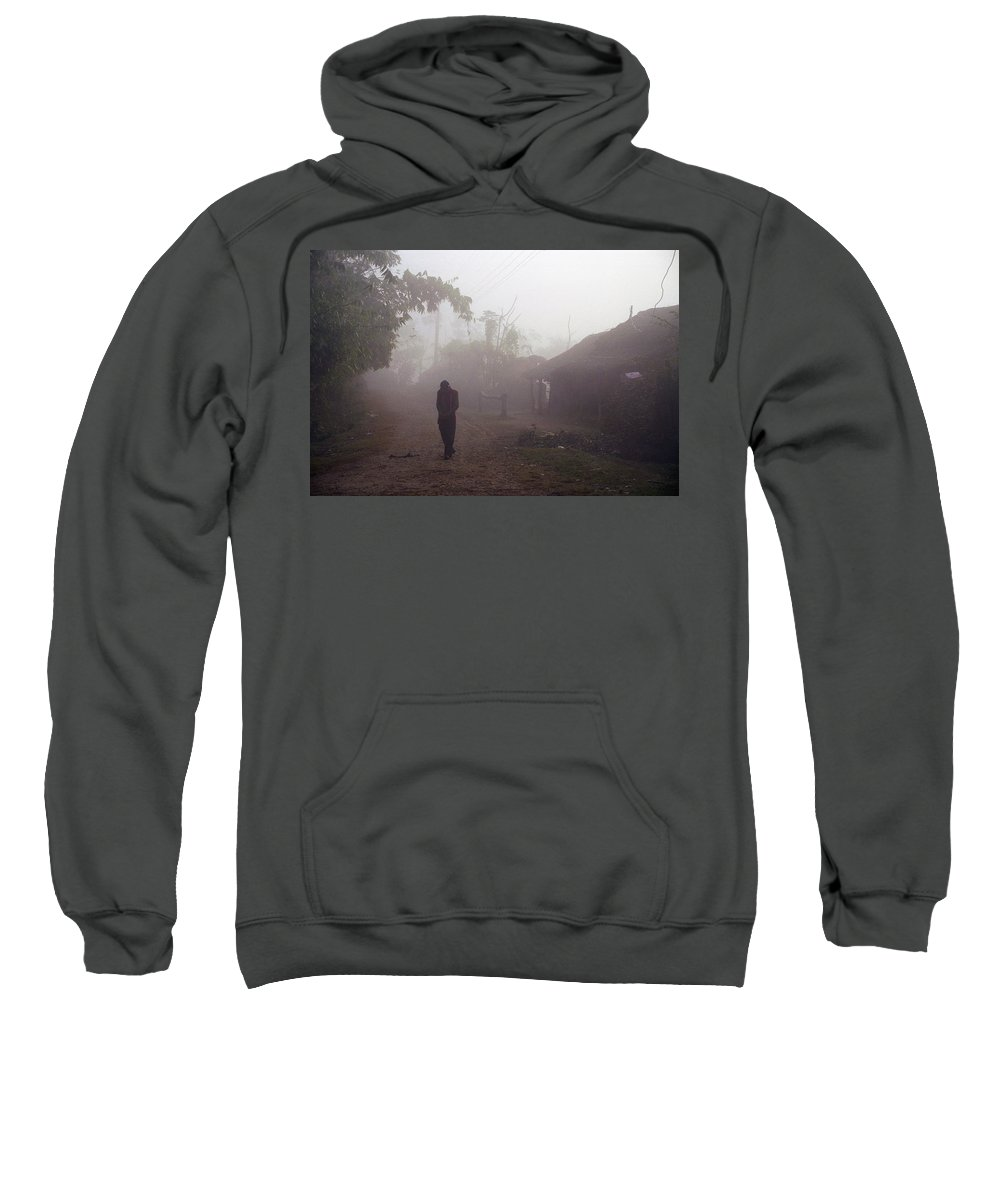 Nepal Sweatshirt featuring the photograph Tristesse by Patrick Klauss