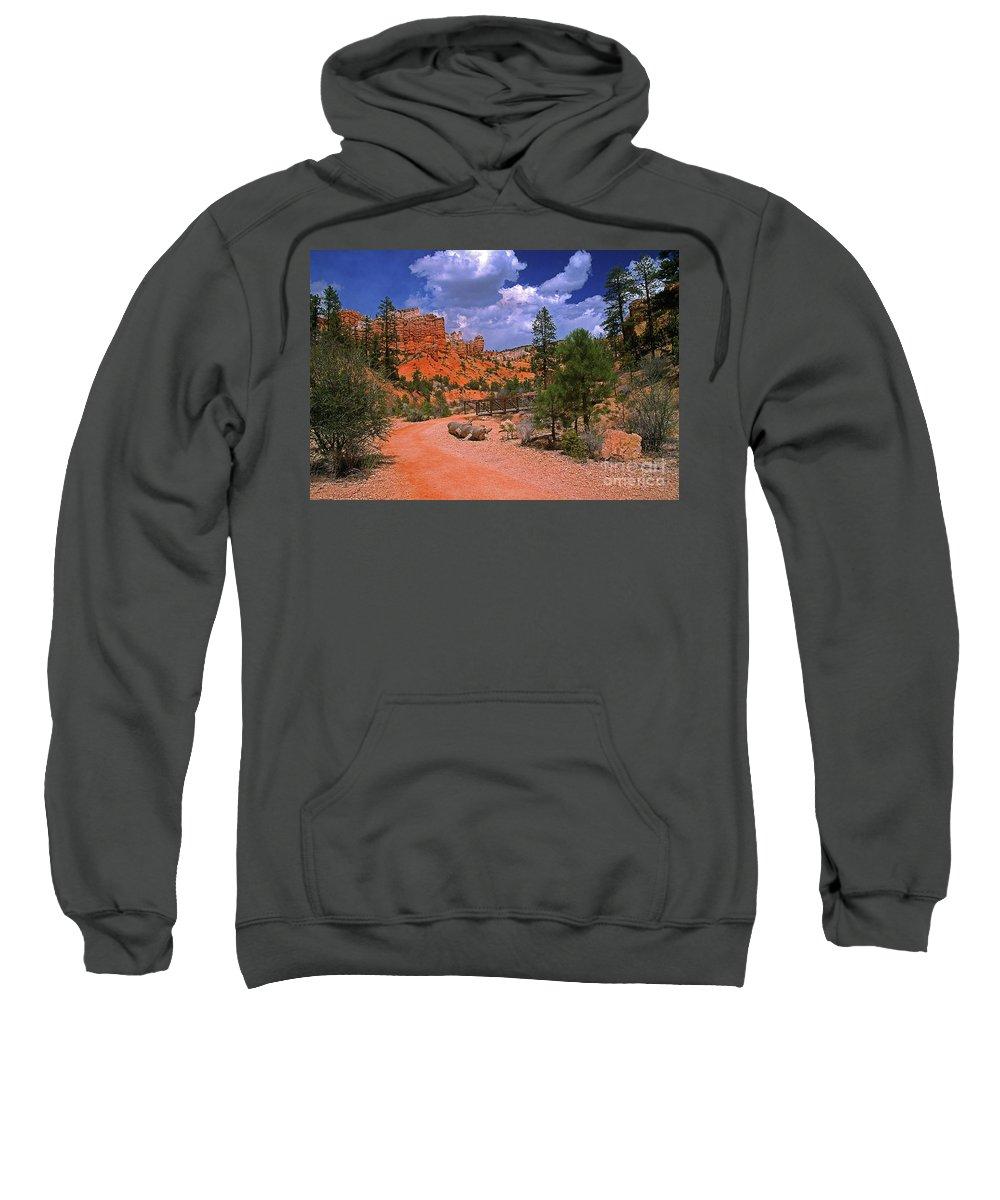 Utah Sweatshirt featuring the photograph Tropic Canyon Bridge In Bryce Canyon Np Utah by Rich Walter