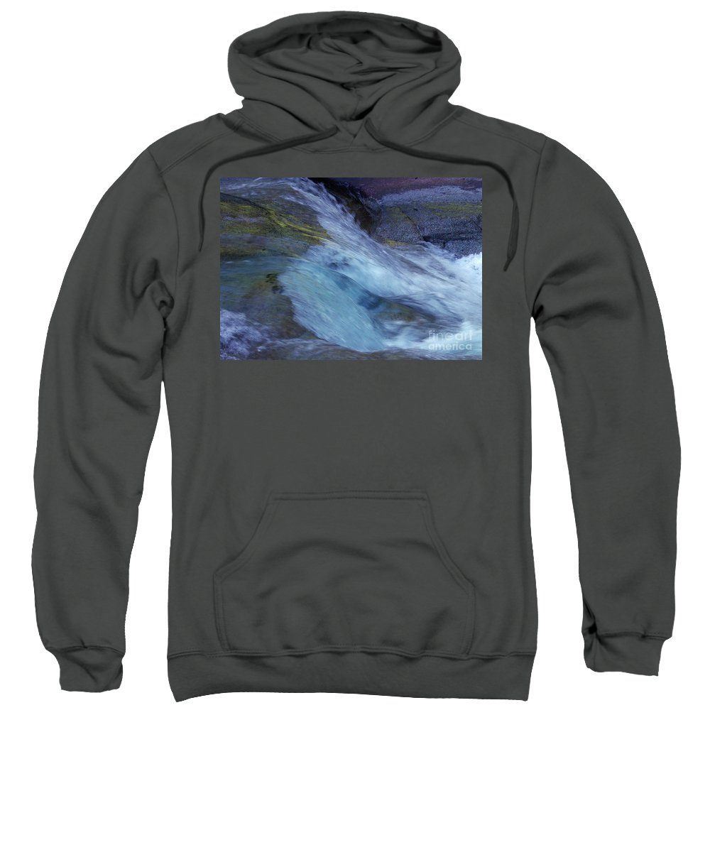 Nature Sweatshirt featuring the photograph Tropical Flowing Waters by Kerryn Madsen- Pietsch