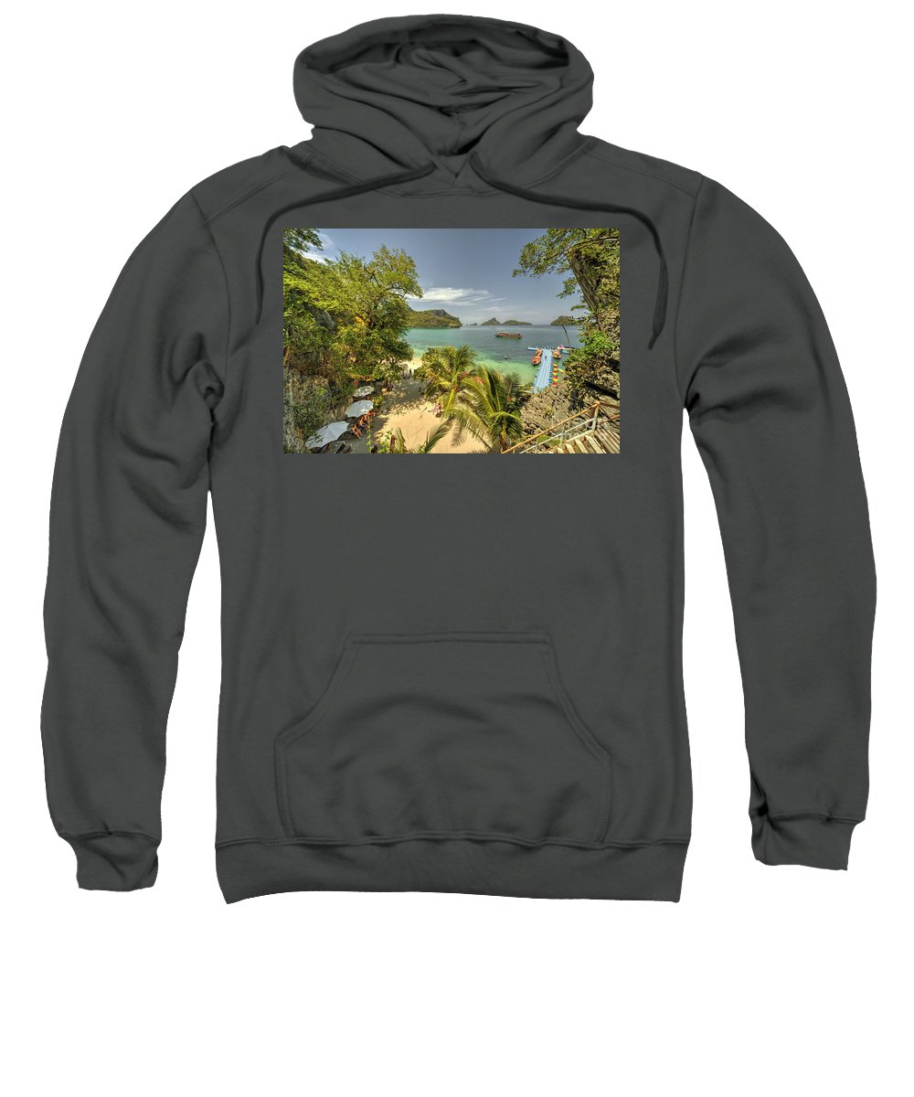 Tropical Sweatshirt featuring the photograph Tropical Harbour by Rob Hawkins