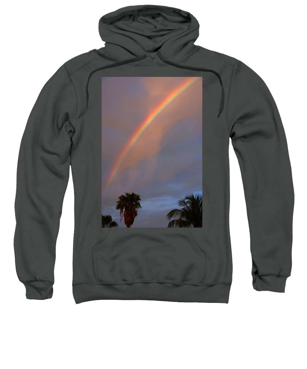 Photography Sweatshirt featuring the photograph Tropical Rainbow by Susanne Van Hulst