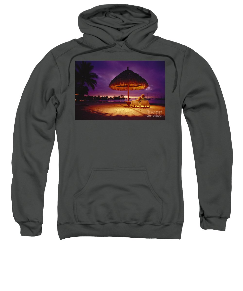 Amaze Sweatshirt featuring the photograph Tropical Tahitian View by Ron Dahlquist - Printscapes