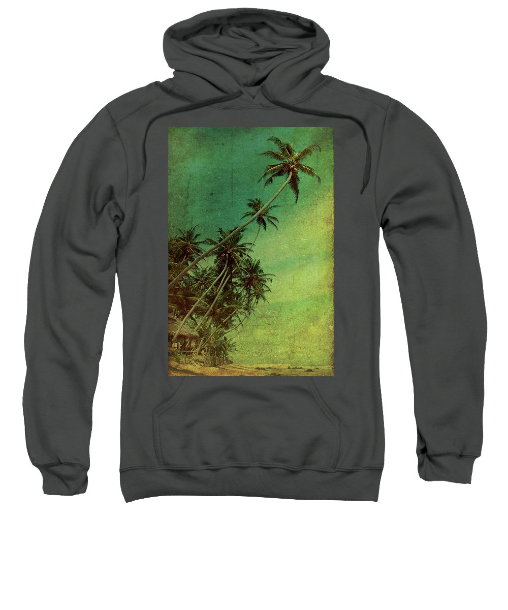 Palm Sweatshirt featuring the photograph Tropical Vestige by Andrew Paranavitana
