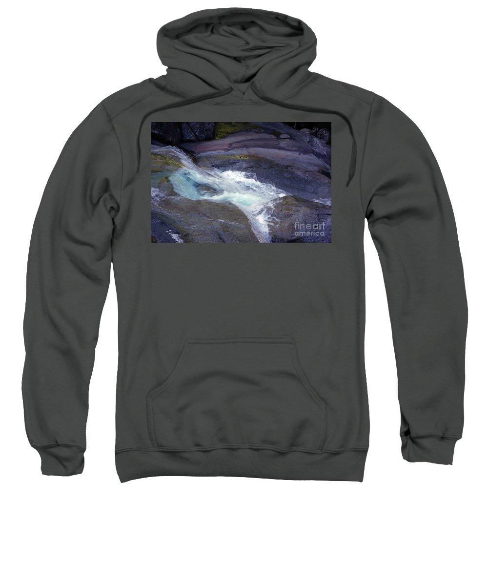 Flowing Sweatshirt featuring the photograph Tropical Water Bird Josephine Falls by Kerryn Madsen- Pietsch