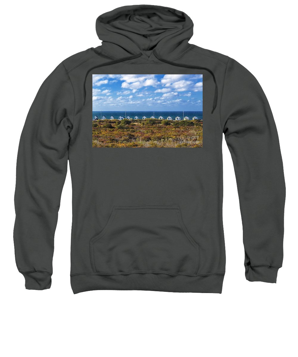 Cape Cod Sweatshirt featuring the photograph Truro Cottages by John Greim