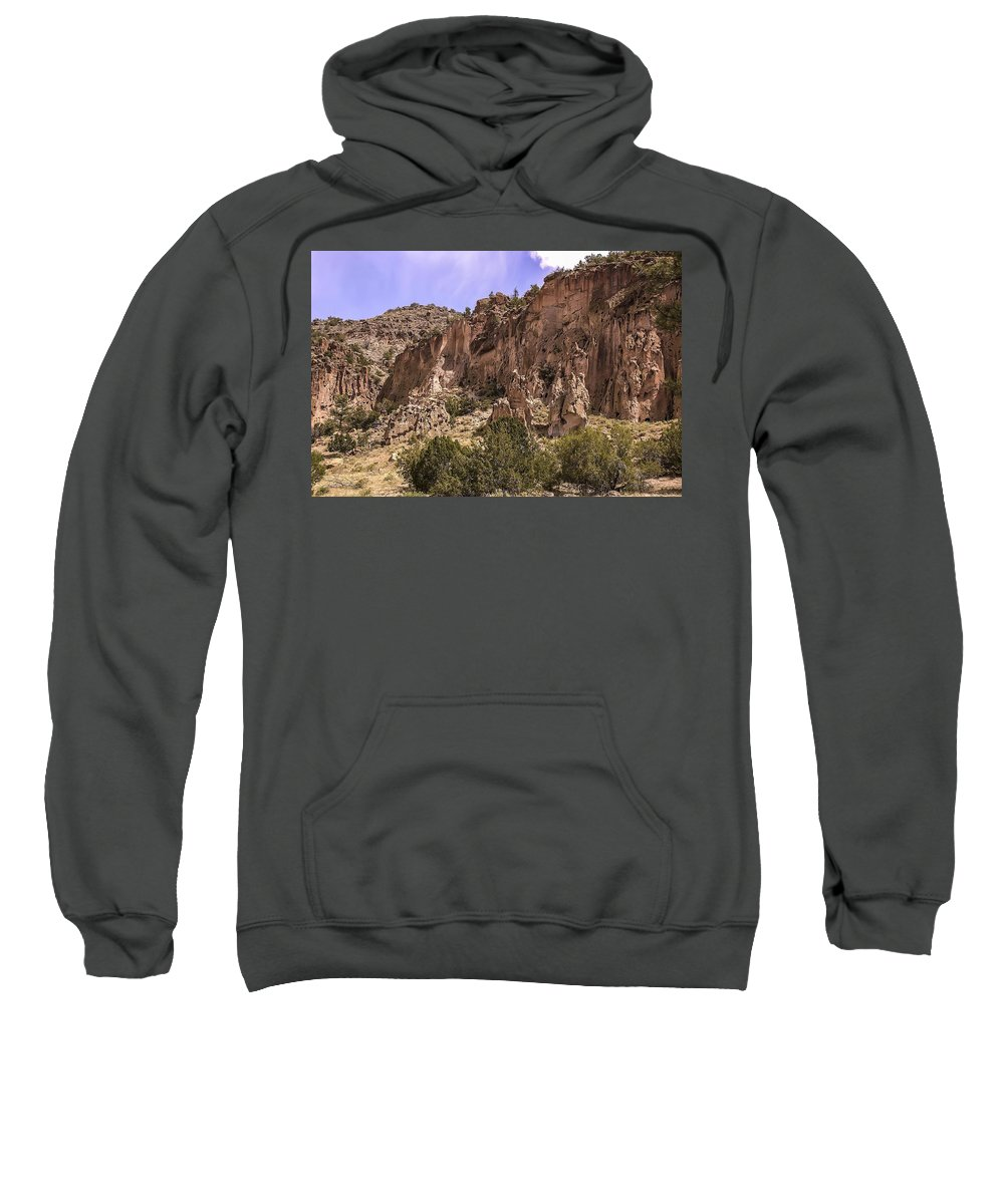 Volcanic Sweatshirt featuring the photograph Tuff Cliffs by NaturesPix