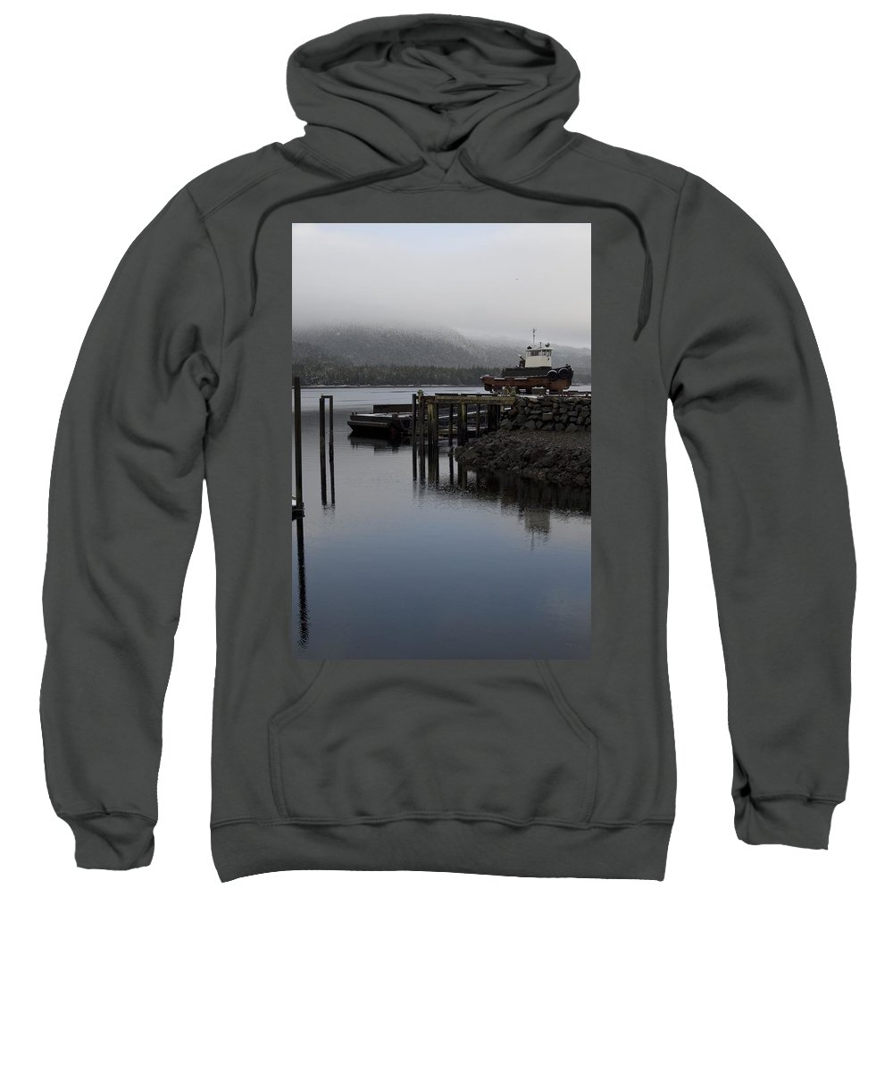 Ocean Sweatshirt featuring the photograph Tug Boat by Sara Stevenson