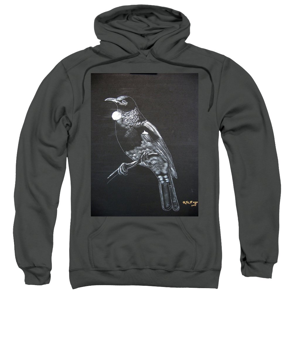 Tui Sweatshirt featuring the painting Tui by Richard Le Page