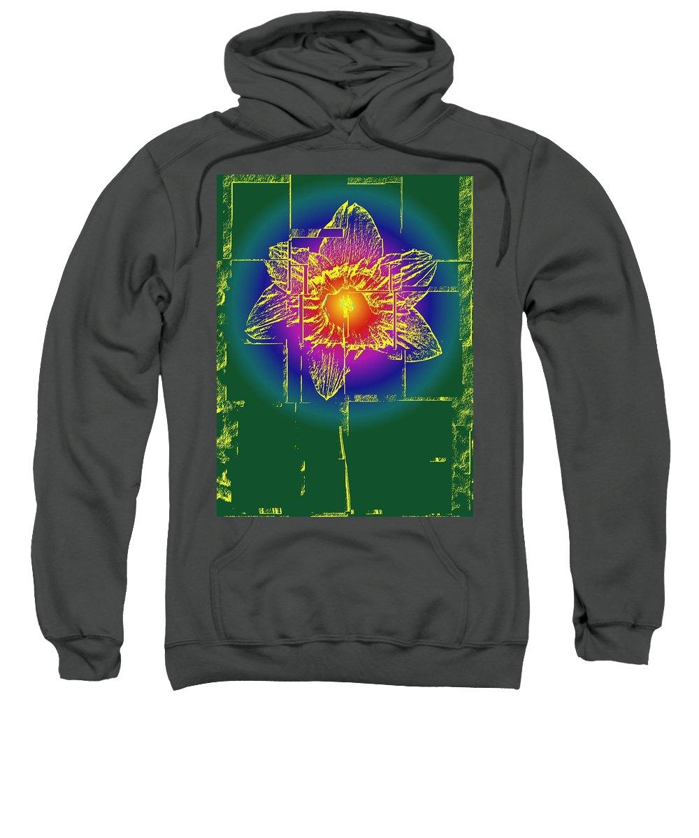 Tulip Sweatshirt featuring the digital art Tulip by Tim Allen