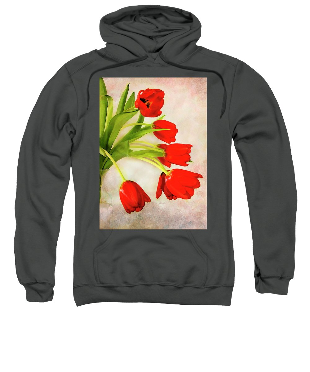 Tulip Sweatshirt featuring the photograph Tulips In A Vase by Gloria Matyszyk