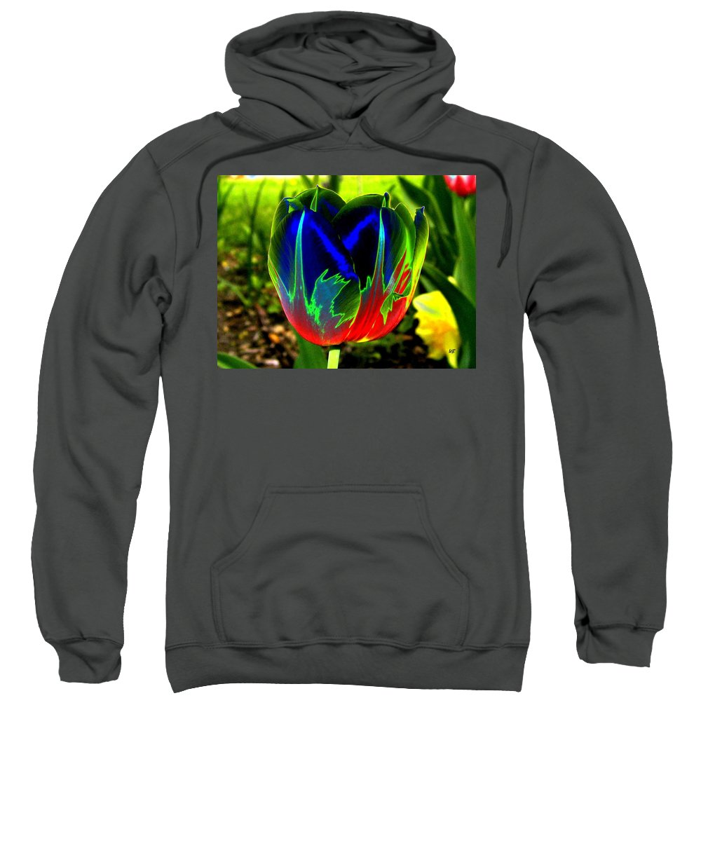 Resplendent Sweatshirt featuring the digital art Tulipshow by Will Borden