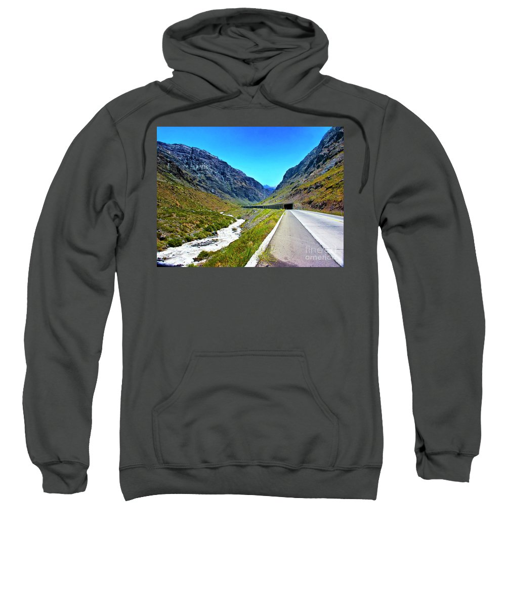 Andes Sweatshirt featuring the photograph Tunnel Ahead by Roberta Bragan