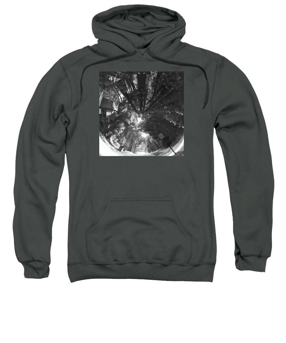Cassadaga Sweatshirt featuring the photograph Tunneling The Street by Kendall Tabor