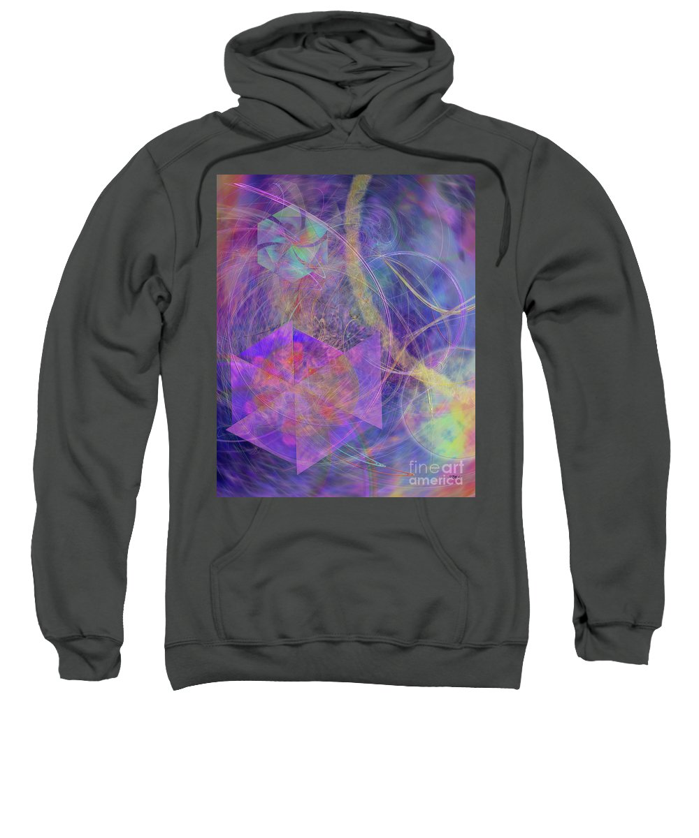 Turbo Blue Sweatshirt featuring the digital art Turbo Blue by John Beck