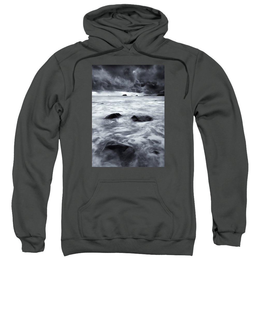 Sitka Sweatshirt featuring the photograph Turbulent Seas by Mike Dawson
