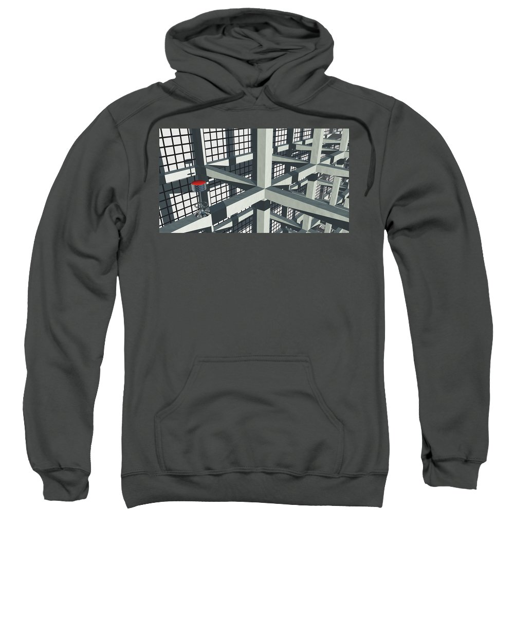 Turmoil Sweatshirt featuring the digital art Turmoil by Richard Rizzo