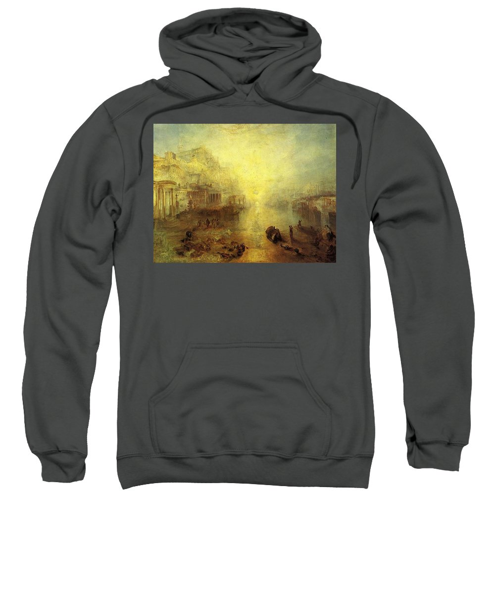 Acrylic Sweatshirt featuring the digital art Turner Joseph Mallord William Ancient Italy Ovid Banished From Rome Joseph Mallord William Turner by Eloisa Mannion