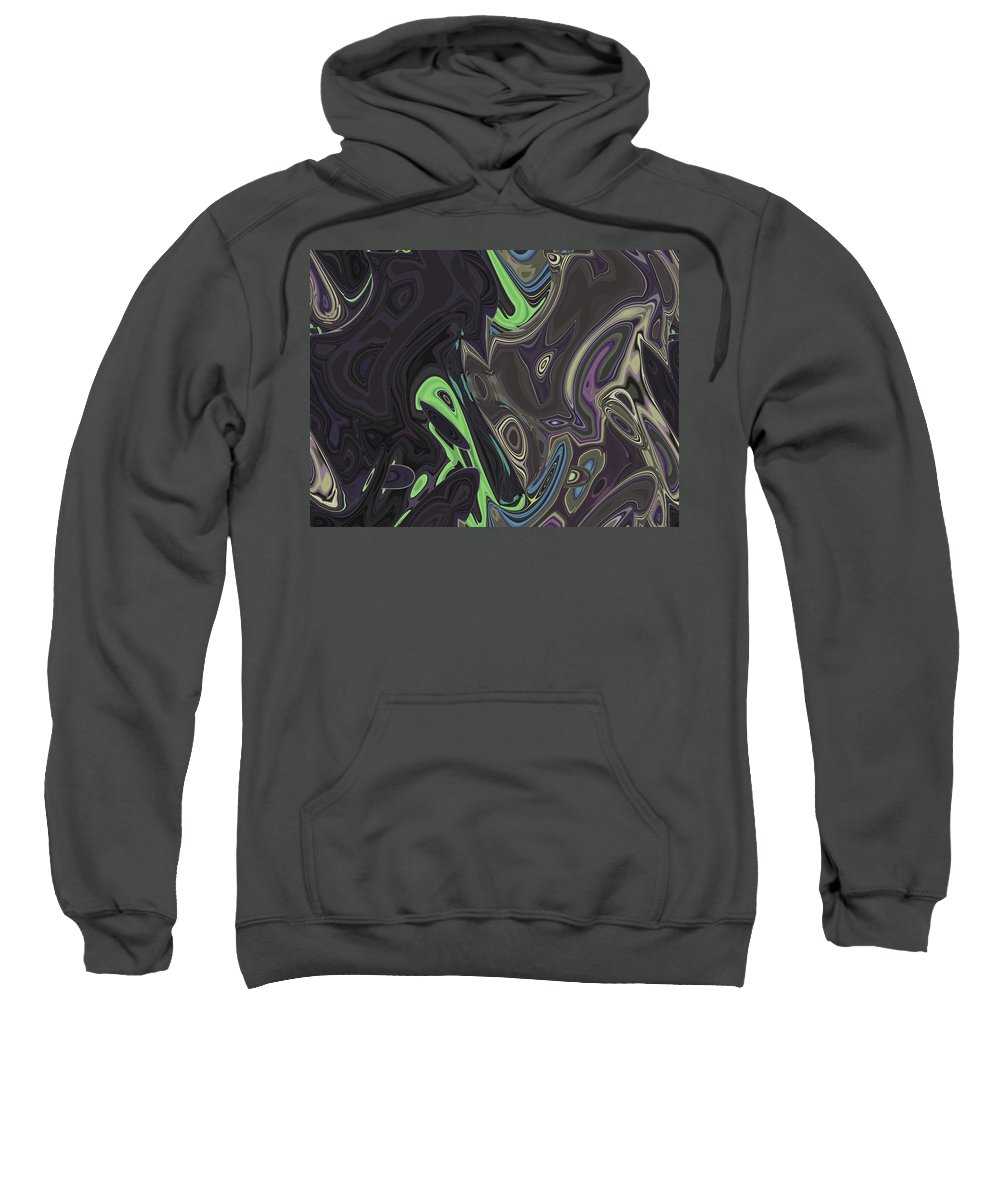 Abstract Sweatshirt featuring the digital art Turtle Is Drowning by Lenore Senior