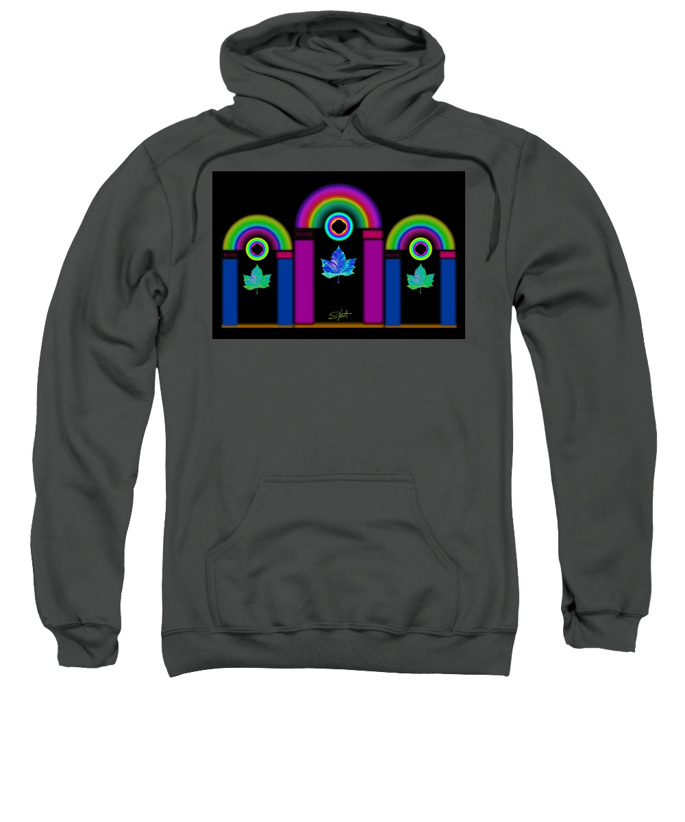 Classical Sweatshirt featuring the painting Tuscan Neon by Charles Stuart