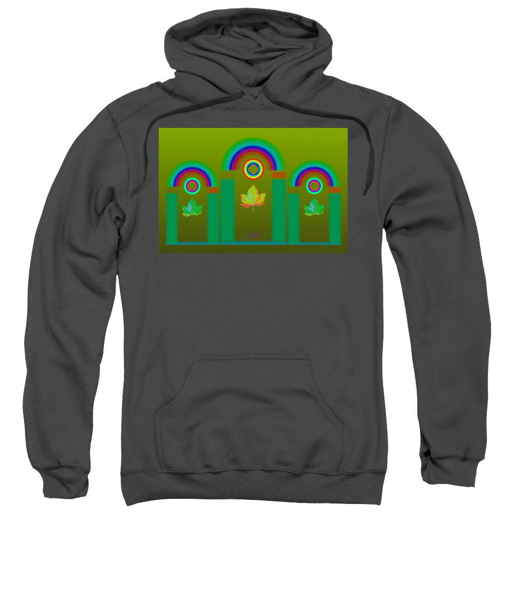 Classical Sweatshirt featuring the digital art Tuscan Olive by Charles Stuart