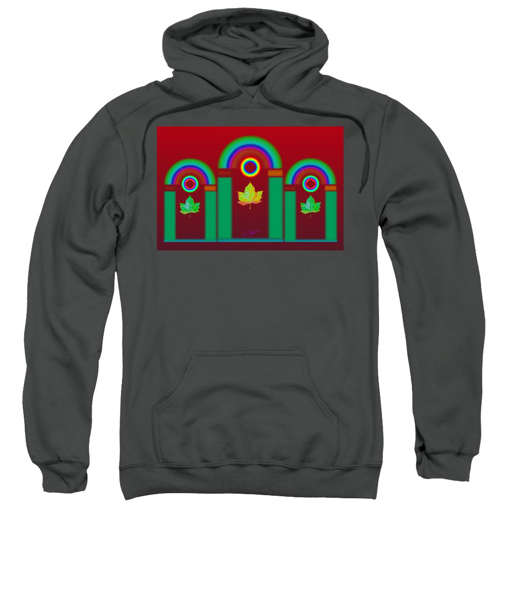 Classical Sweatshirt featuring the digital art Tuscan Red by Charles Stuart