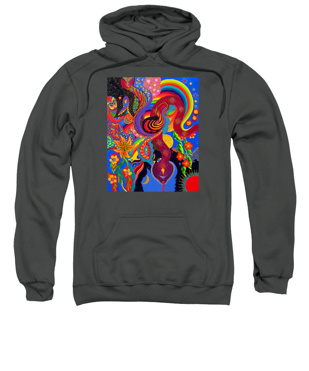 Abstract Sweatshirt featuring the painting Serpent Descending by Marina Petro
