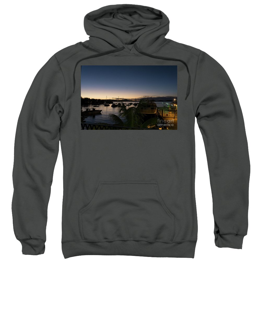 Cruz Bay Sweatshirt featuring the photograph Twilight Cruz Bay by Randall Saltys