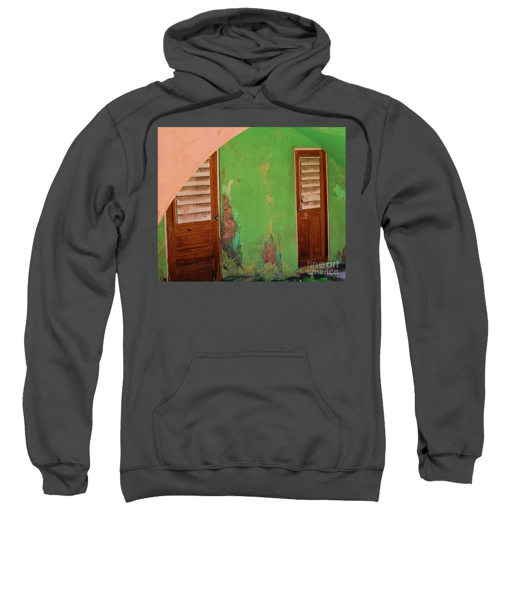 Doors Sweatshirt featuring the photograph Twin Doors by Debbi Granruth