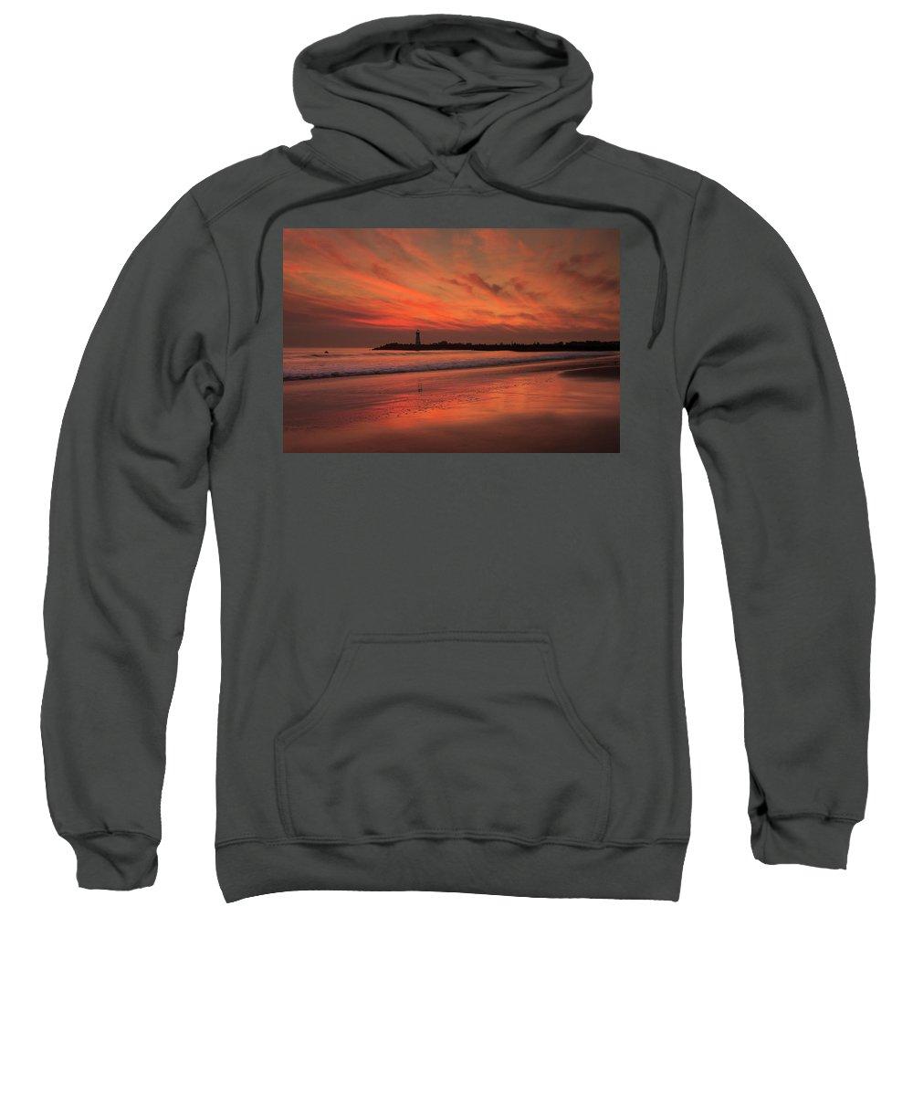 Beach Sweatshirt featuring the photograph Twin Lakes Sundown by Bruce Frye