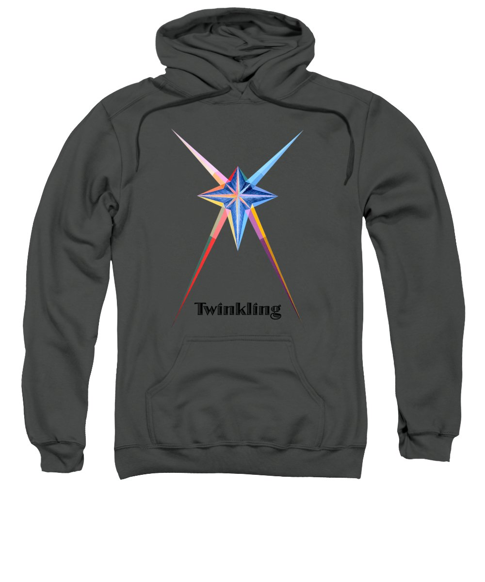Collection Sweatshirt featuring the painting Twinkling text by Michael Bellon