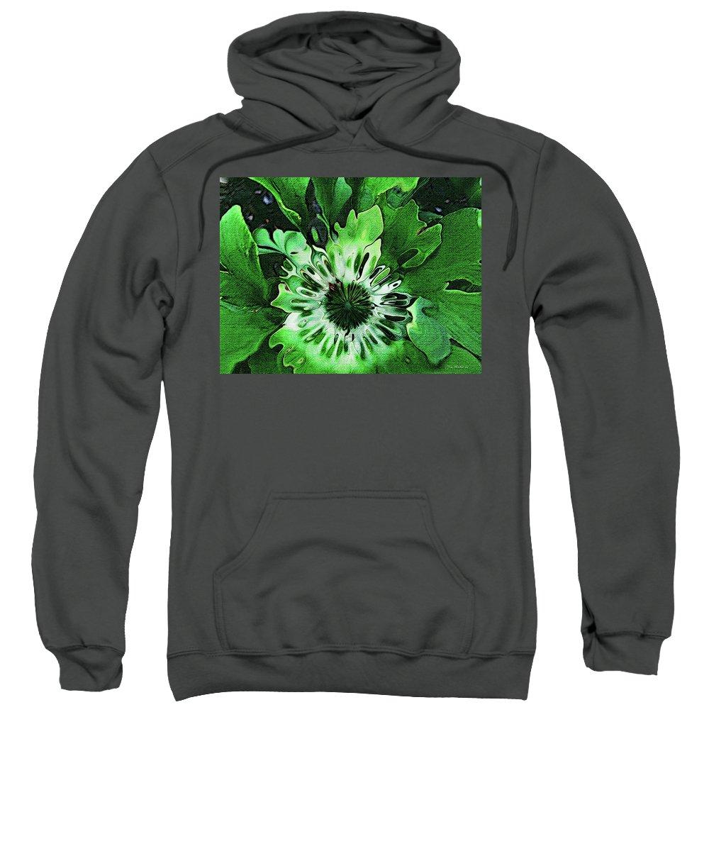 Leaves Sweatshirt featuring the digital art Twisted Leaves by Joan Minchak