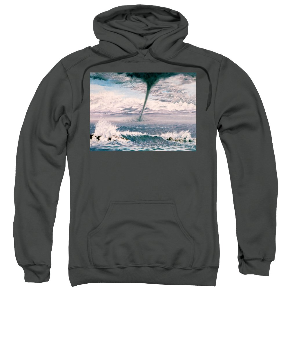 Seascape Sweatshirt featuring the painting Twisted Nature by Mark Cawood