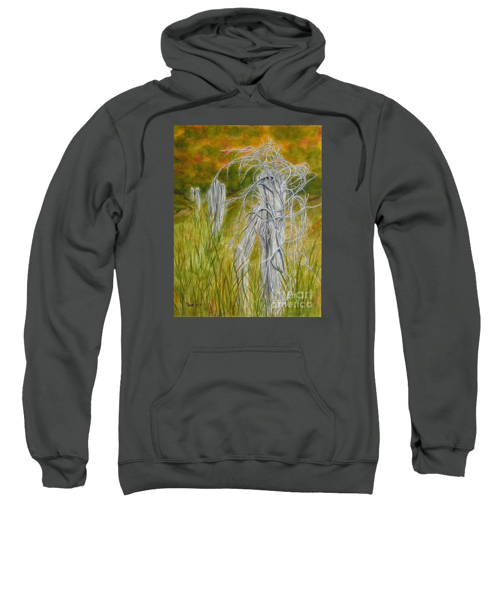 Landscape Sweatshirt featuring the painting Twisted by Regan J Smith