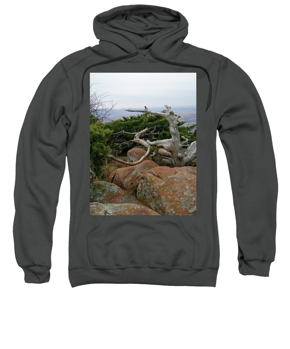 Wichita Mountains Sweatshirt featuring the photograph Twisted View by Gale Cochran-Smith