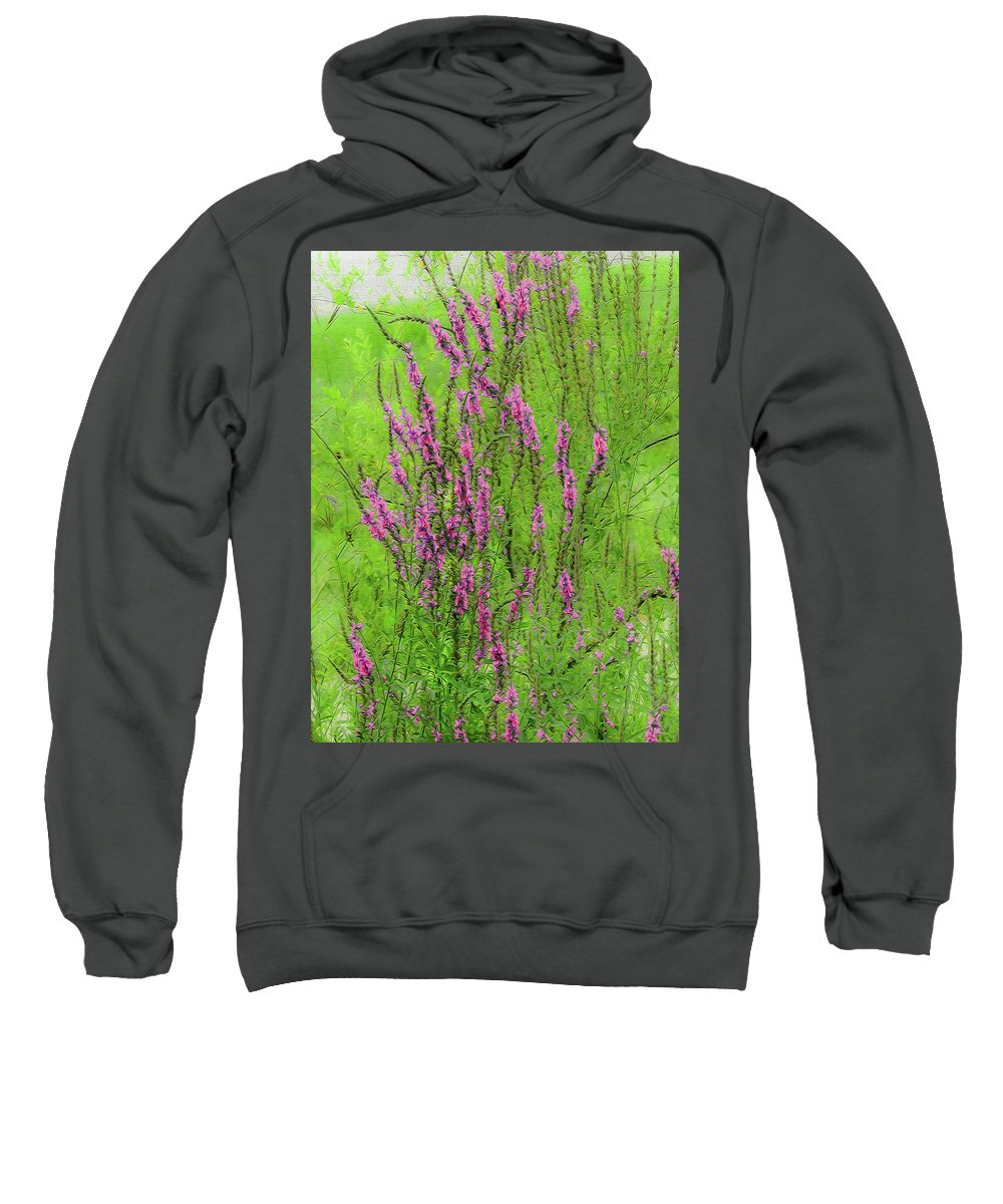 Wildflowers Sweatshirt featuring the photograph Twisty Flowers by Tom Hageman