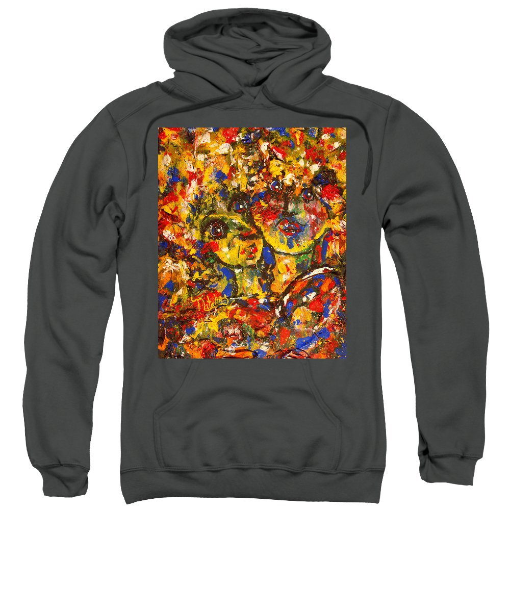 Best Friends Sweatshirt featuring the painting Two Best Friends by Natalie Holland