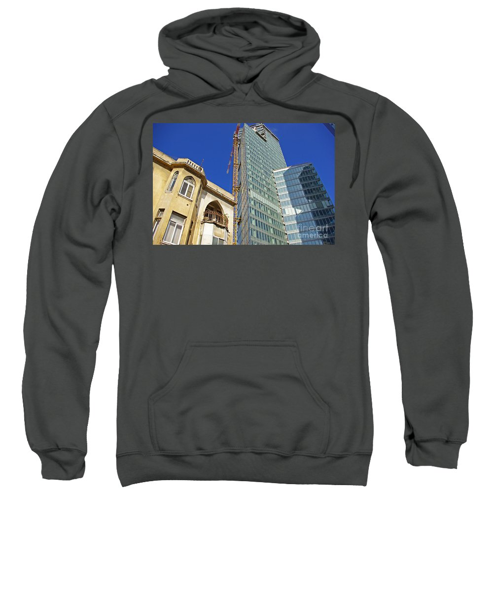Building Sweatshirt featuring the photograph Two Buildings.. by Zal Latzkovich
