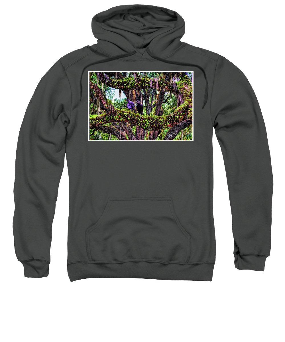 Florida Sweatshirt featuring the photograph Two Buzzards In A Tree by Rogermike Wilson