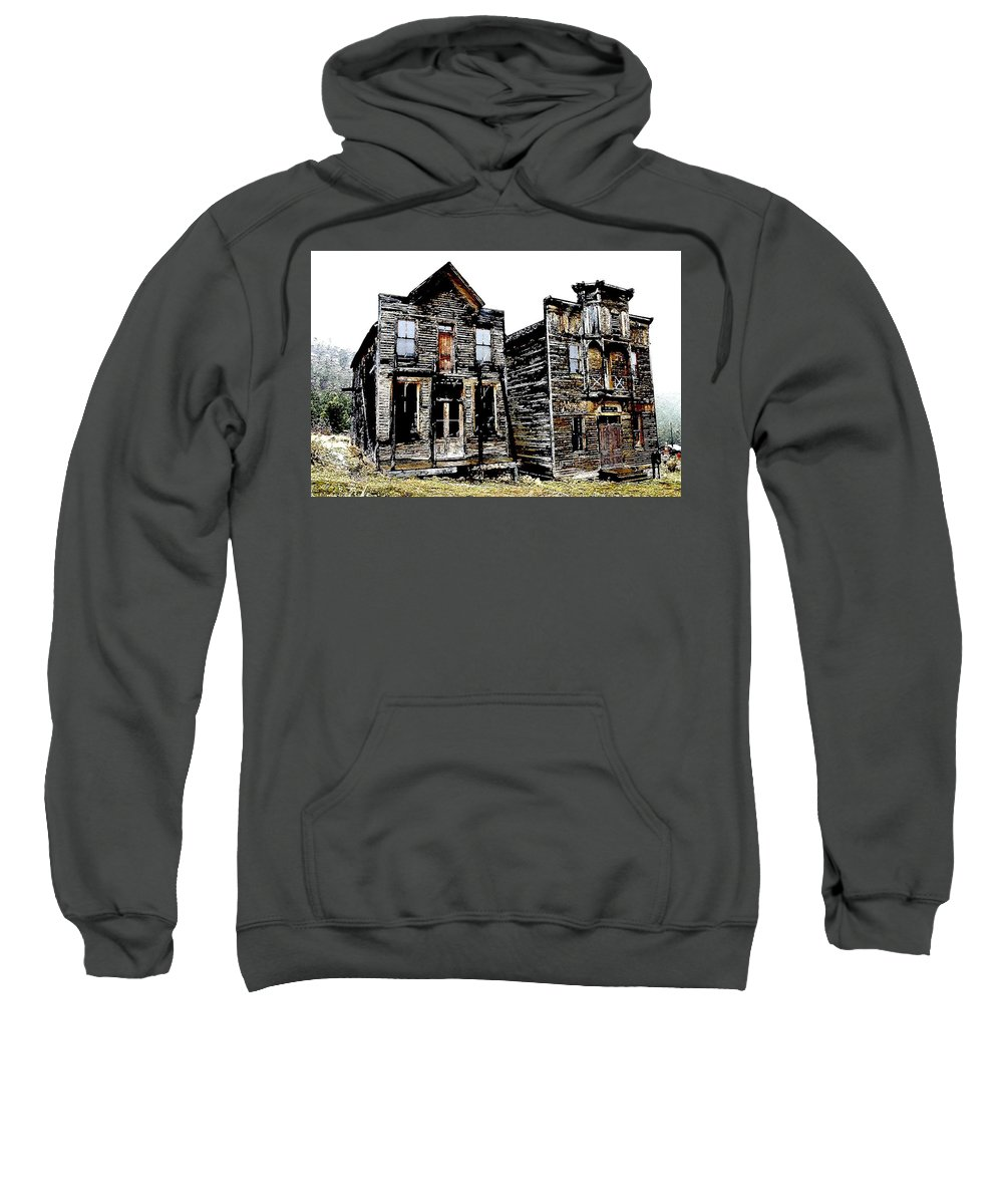 Ghost Town Sweatshirt featuring the photograph Two Ghosts by Nelson Strong