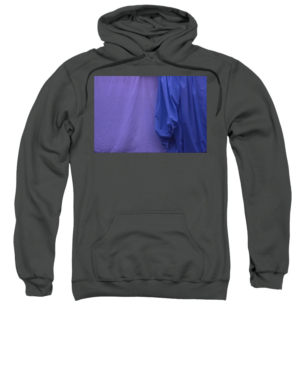 Abstract Sweatshirt featuring the photograph Two Sheets Abstract Purple Blue by Wayne King